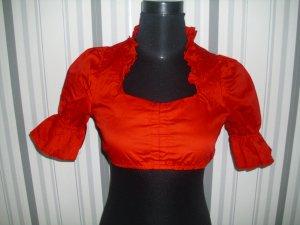 Dirndl Bluse mit Halbarm in rot Größe S