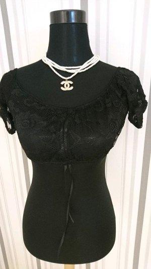 Dirndl- Bluse transparent Größe 42 in schwarz