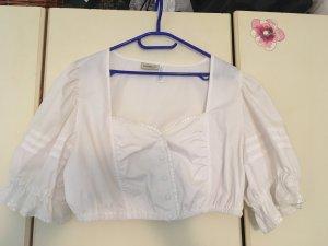 Dirndl-Bluse weiß mit Knopfleiste