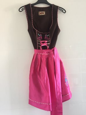 Stockerpoint Vestido Dirndl marrón oscuro-rosa