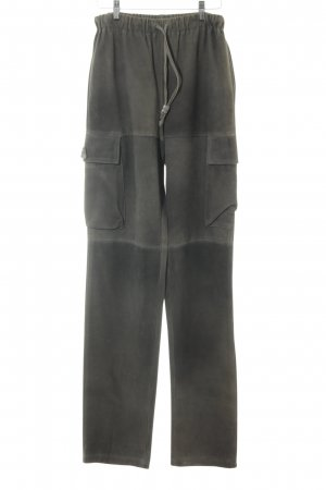 Dirndl + Bua Pantalón de cuero marrón grisáceo