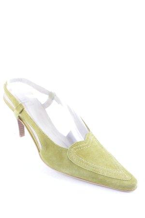 Dirndl + Bua Slingback-Pumps grasgrün klassischer Stil
