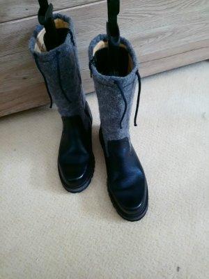 Dirndl + Bua Combat Boots black-grey