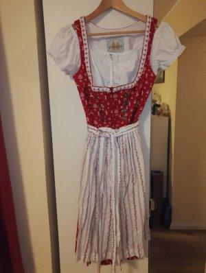 Wenger Austrian Style Dirndl bianco-rosso
