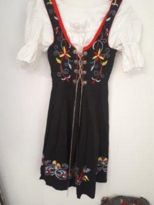 A-lijn jurk zwart-rood
