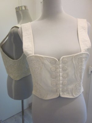 Traditional Camisole white linen