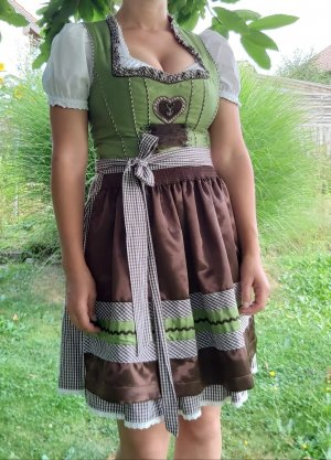 Country Line Dirndl forest green-brown