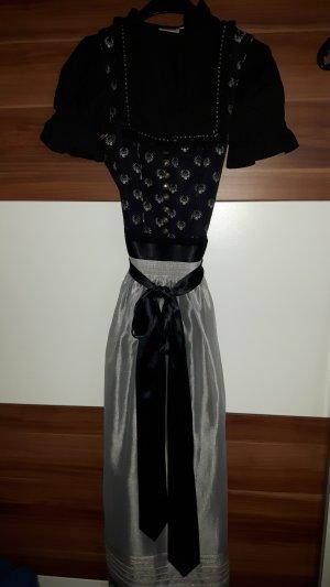 Country Line Vestido Dirndl negro-color plata
