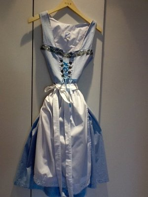 MarJo Mini-jurk babyblauw-wit Katoen