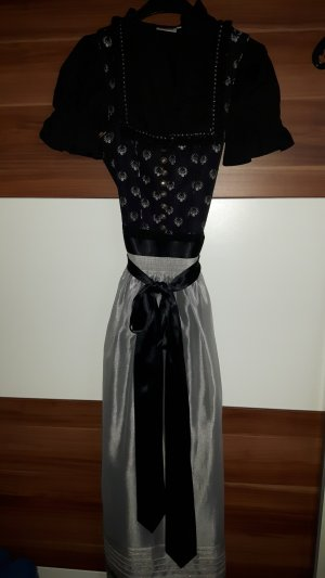 Country Line Dirndl black-silver-colored