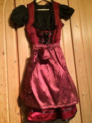 Dirndl Gr. 34, Midi, mit schwarzer Bluse