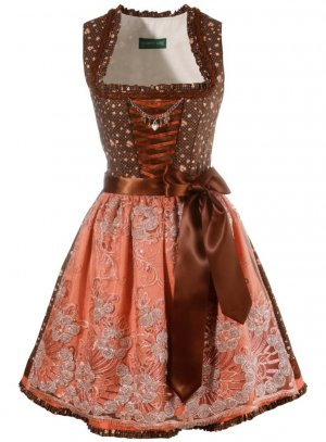 Country Line Dirndl brown-apricot