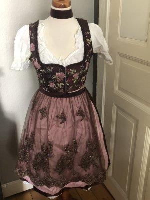 Original Steindl Jurk donkerbruin-roze