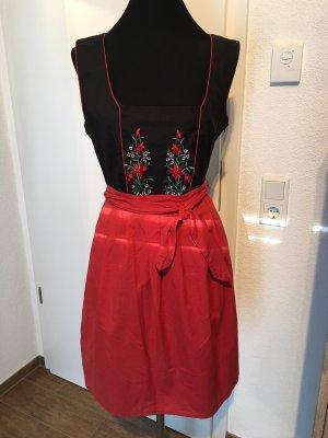 Midi Dress black-dark red