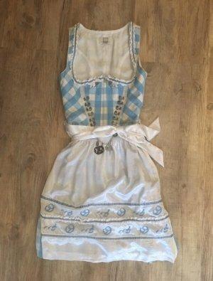 Spieth & Wensky Vestido Dirndl azul claro-blanco