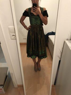 Dirndl, Größe 34, schwarz/grün mit Bluse