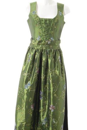 Vestido Dirndl verde-negro estilo country