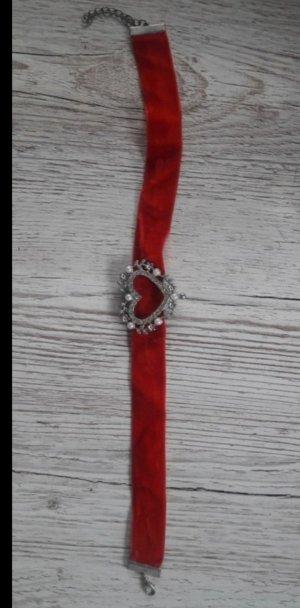 Bijou Brigitte Ketting zilver-rood