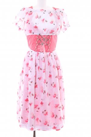 Dirndl hellrot florales Muster Country-Look