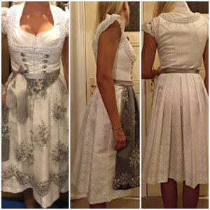 Angermaier Dirndl white-silver-colored