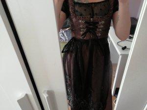 Original Steindl Vestido Dirndl negro-marrón