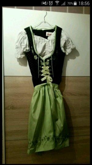 Fuchs Schmitt Vestido Dirndl negro-verde hierba