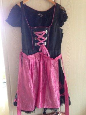 Dirndl in pink, rosa und schwarz