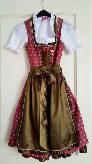 Krüger feelings Dirndl pink-olive green