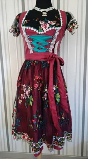 Dirndl black-red polyester