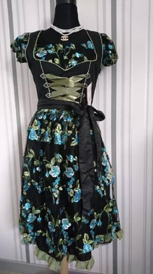 Dirndl black-green mixture fibre