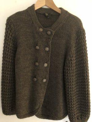 Chaqueta de lana gris antracita-gris oscuro