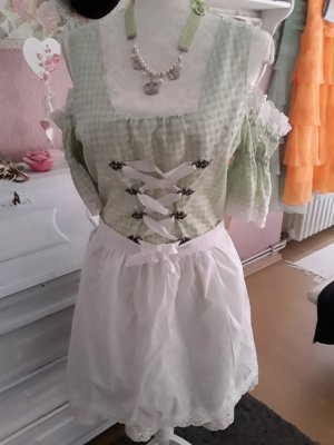 Dirndl white-green