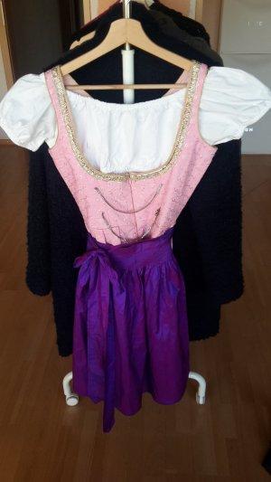 Vestido Dirndl color oro-rosa