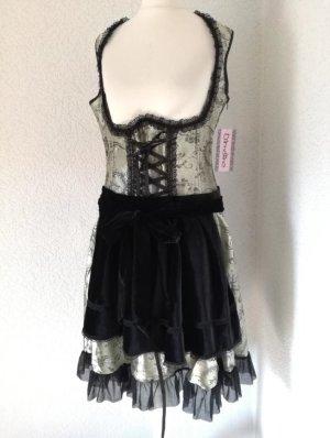Dirndl Kleid Tracht Unterbrust Trachtenkleid mit Schürze Dirndlkleid Mini Kleid