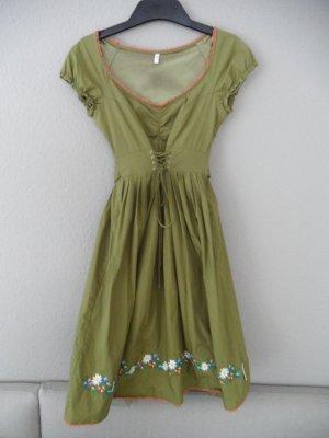 Dirndl Landhaus Kleid Blutsgeschwister Gr. 36 Oliv