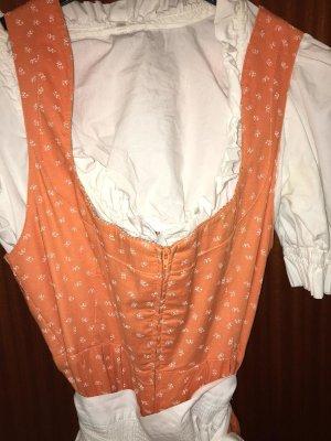 Vestido Dirndl blanco-naranja