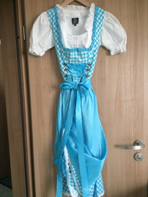 MarJo Vêtement traditionnel turquoise-blanc