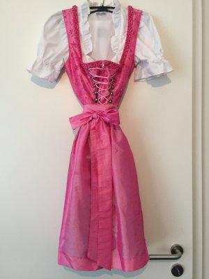 Turi Landhaus Vestido Dirndl negro-rosa
