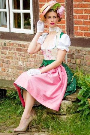Vestido Dirndl multicolor Lino