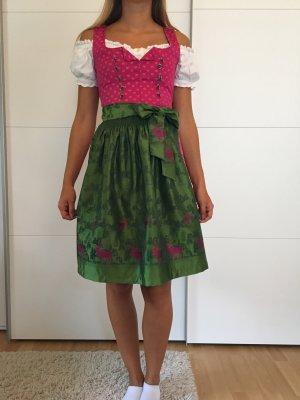 Dirndl rosa-verde prato