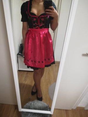 Dirndl mit Bluse, schwarz/pink
