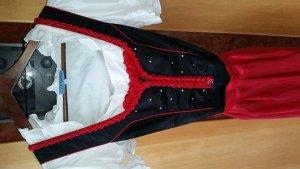 Dirndl mit Bluse schwarz/rot