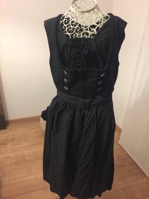 Almsach Vestido línea A negro-blanco