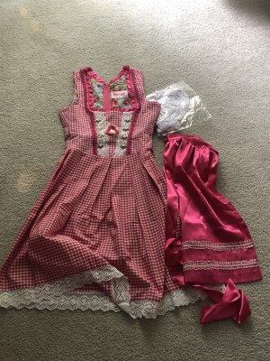 Vestido tipo túnica rojo frambuesa-rosa