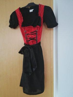 MarJo Jurk zwart-rood