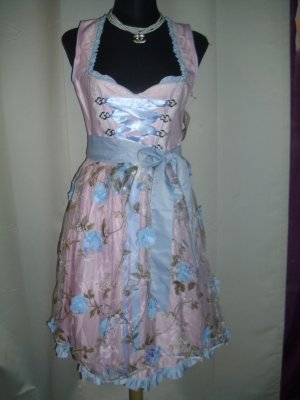 Dirndl pink-light blue mixture fibre