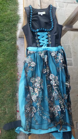 Tramontana Dirndl dark brown-blue