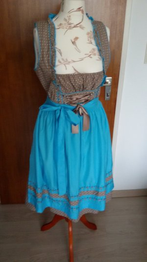 Esmara Dirndl light brown-light blue mixture fibre