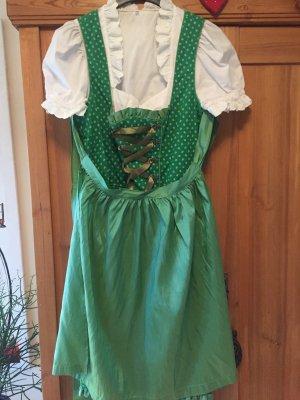 Dirndl mit Schürze und Bluse, Gr. 42, hellgrün, La Montanara