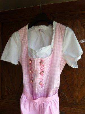 Dirndl bianco-rosa chiaro Cotone